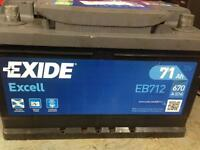 Exide excell eb712 12v 71ah car battery 096 Mondeo mk3 tdci