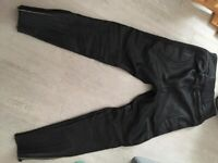 "dolomite range sportex motorbike leather padded trouser 32"" waist"