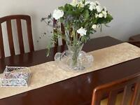 REDWOOD EXTENDING DINING TABLE WITH 6 CHAIRS