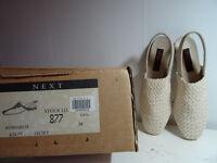 Next Ivory flat crochet style shoes size 5 (38)