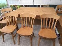 Oak dining set- From Victoriana Southsea