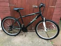 Mountain bike with front suspension 18 speed
