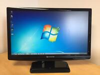 "PACKARD BELL Full HD 23"" widescreen LCD monitor with built-in speakers"