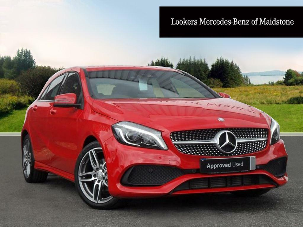 mercedes benz a class a 180 d amg line premium red 2016. Black Bedroom Furniture Sets. Home Design Ideas