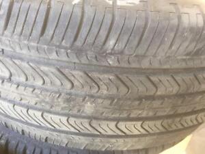 2 pneus d'été, Michelin, Primacy MXV4, 235/60/17, 50% d'usure, mesure 6/32.