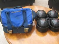 Set of Almark Lawn bowls with Drake Pride Bag