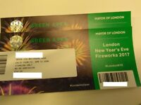 4x NEW YEARS EVE FIREWORKS AT LONDON TICKETS GREEN AREA