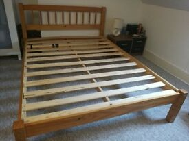 Double Wooded Bed Frame - FREE DELIVERY