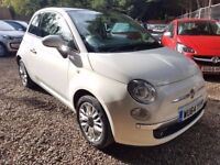 Fiat 500 1.2 Lounge 3dr (start/stop)£5,995 p/x welcome FREE 1 YEAR WARRANTY! LIKE NEW