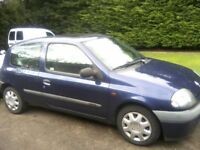 RENAULT CLIO 1-2 RN GRANDE 3-DOOR 2001. APRIL 2018 MOT, EXCELLENT ALLROUND CONDITION, ANY TRIAL.