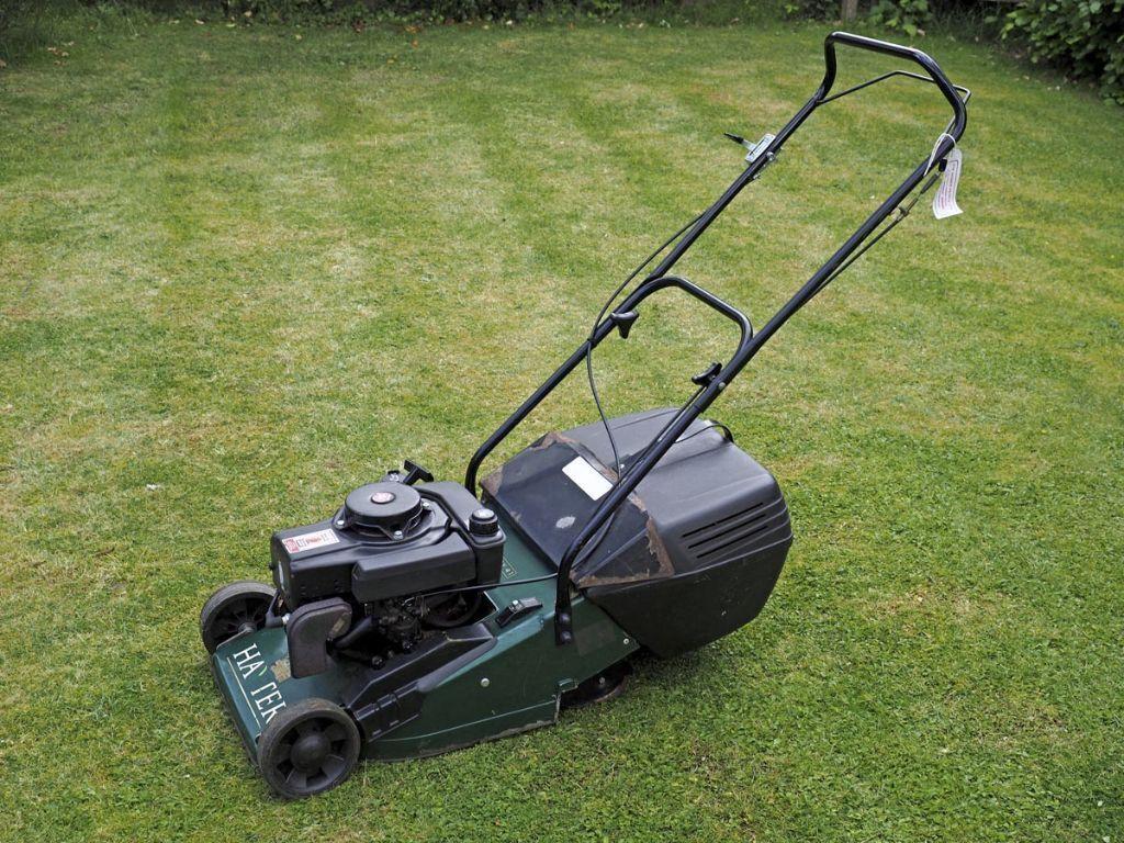Hayter Hobby Autodrive Petrol Lawnmower with Grass Box