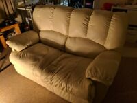 Cream leather recliner sofa, need gone asap
