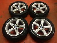 17'' GENUINE BMW 3 SERIES SPORT ALLOY WHEELS TYRES ALLOYS 4 F30 F31 F32 F33 5X120 E90 TRAFIC VIVARO