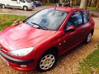 Quick sale Great 206 Peugeot Zest 2 with 1 year MOT and low mileage
