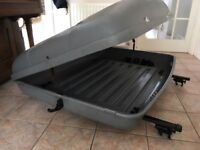 Karrite top box with roof bars - reasonable condition