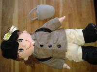 Boots Soft Bodied Doll with Horse Riding Clothes