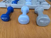 Pro fitness 6kg dumbbell hand weight set