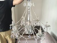 Chrome 9 light chandelier