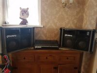 **FOR SALE** DJ JOB LOT*2 X CARLSBRO SPEAKERS AND MIXER PMX 12-2