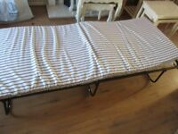 FOLD UP SINGLE BED & MATTRESS