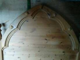 Medieval style solid wood bed
