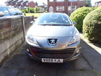 PEUGEOT 207CC CONVERTIBLE 2009 - VERY LOW MILEAGE ONLY 34,000 MILES EXCELLENT CONDITION