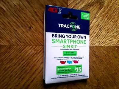 Tracfone BYOP Phone SIM Card Activation Kit 3 in 1 [24/7 Speedy Shipping!]