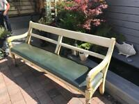 Antique pine pew bench