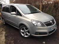 2007/56 Vauxhall Zafira SRI AUTO 2.2 Petrol 150BHP Full Service History Long MOT Full Leather