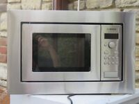 Bosch integrated microwave. Stainless steel finish