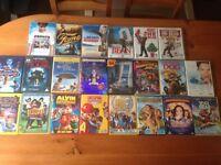 Selection of children's DVD's.