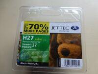 NEW JET TEC H27 BLACK INKJET CARTRIDGE HP 27 COMPATABLE SEALED
