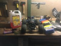 Traxxis 1/10 scale nitro monster truck