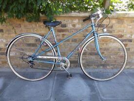 Peugeot mixte classic ladies bicycle size 53cm blue