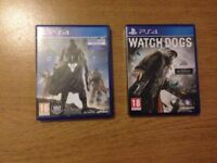 PS4 GAMES DESTINY + WATCH DOGS BOTH FOR £5 NO OFFERS *** ADVERT 149 ***