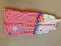 JoJo Maman Circus Theme Toddler Sleeping bag size 18 months - 4 years 2.5 tog