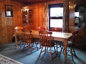 Pine Dining Table, 8ft x 3ft