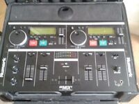 NUMARK CD MIX 1 PLAYER - DJ EQUIPMENT - TWIN CD PLAYER - INCLUDING FLIGHT CASE