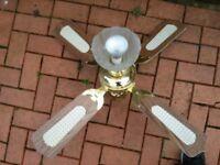 Lamp with fan