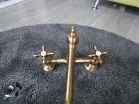 French brass kitchen tap