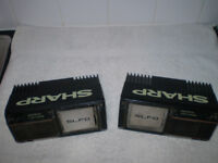 VINTAGE SHARP CAR SPEAKERS - BASS REFLEX 3 WAY SYSTEM / Mk 1 ESCORT RS COSWORTH FORD CORTINA