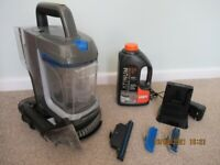 VAX SpotlessGo hand-held carpet stain cleaner, with liquid, battery