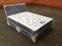 4.6 leather look double bed