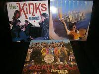 3 Vinyls including; The Beatles, The Kinks, Supertramp