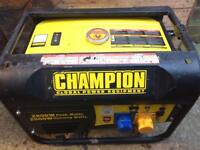 Champion 2800w petrol generator.