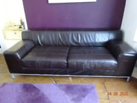2 x Ikea Leather Sofas £40 for the pair. Good condition.