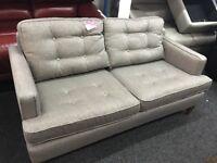 New / Ex Display Dfs Contemporary 3 Seater Fabric Sofa