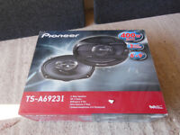 "2 x Pioneer TS-A6923I 6"" x 9"" speakers, with box - 3 way triaxial drivers, car audio, ICE"