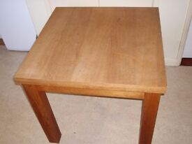 4 WOODEN PADDED CHAIRS AND KITCHEN TABLE 63 IN X 31.5 INCHES