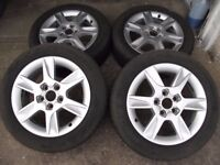 Audi A3 Alloys with tyres.